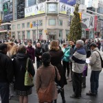 Fiona Chapman, City of Toronto, Pedestrian Projects explains the Pedestrian Scramble at Yonge/Dundas