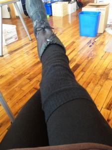 Website image - winter cycling legs